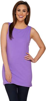 Women With Control Women with Control Petite Long and Lean Bateau Neck Tank