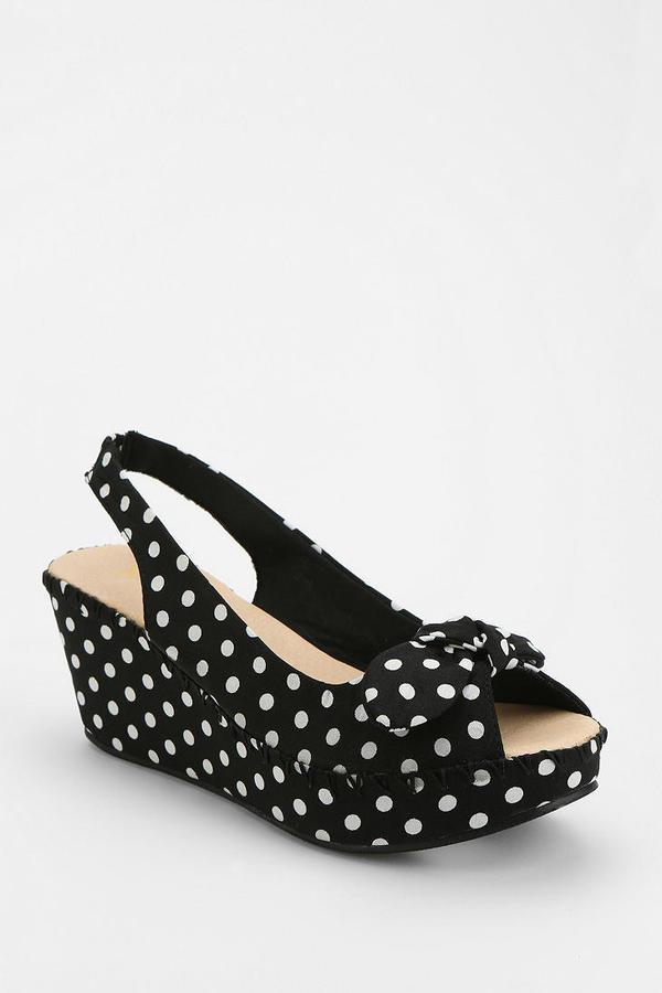 Urban Outfitters Restricted Polka Dot Platform Sandal