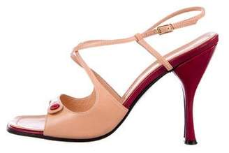 Casadei Leather Ankle Strap Sandals