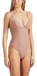 Fleur Du Mal Women's Jersey Thong Bodysuit - Beige, Tan