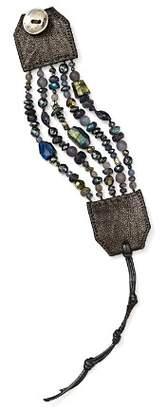 Chan Luu Sterling Silver & Leather Multi-Strand Bracelet