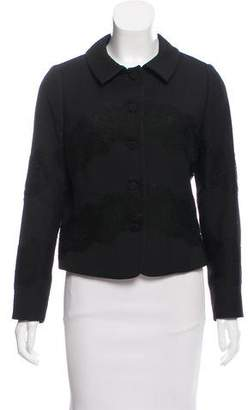 Valentino Wool & Silk Blend Structured Jacket