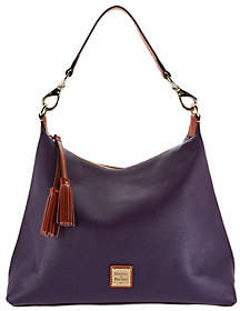 Dooney & Bourke Pebble Leather Hobo Handbag-Juliette - ONE COLOR - STYLE