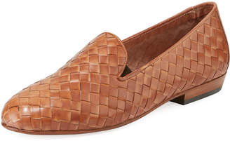 Sesto Meucci Nader Woven Leather Loafers, Natural