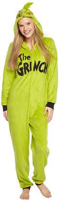Asstd National Brand Womens Grinch Onesie Pajama