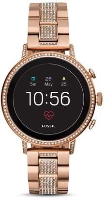 Fossil Explorist HR Rose Gold-Tone & Pavé Touchscreen Smartwatch, 40mm