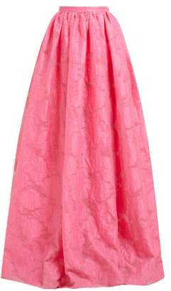 Erdem Lydell Floral Damask Maxi Skirt - Womens - Pink