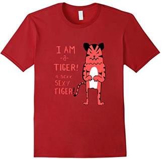 Mens I am a Tiger a Sexy Tiger Funny Cheap Kids T shirt XL
