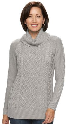 Women's Croft & Barrow® Cable-Knit Cowlneck Sweater $50 thestylecure.com