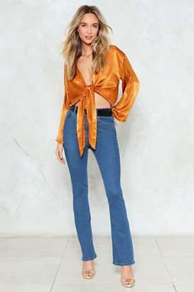 Nasty Gal Like I Flare High-Waisted Jeans