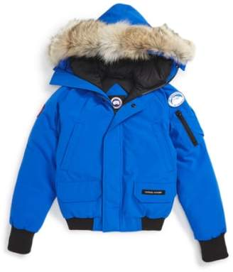 Canada Goose 'PBI Chilliwack' Hooded Bomber Jacket with Genuine Coyote Fur Trim