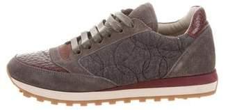 Brunello Cucinelli Embossed Low-Top Sneakers