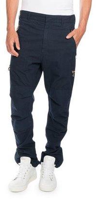 Balmain Cargo Pants with Golden Zippers, Navy $1,375 thestylecure.com