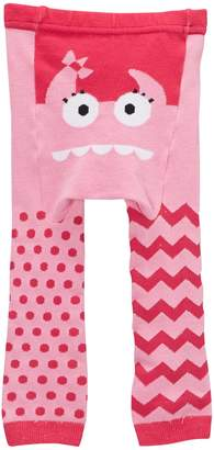 Doodle Pants Pink Monster Leggings (Baby Girls)