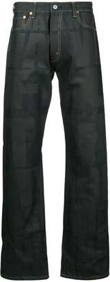 Junya Watanabe printed wide-leg jeans
