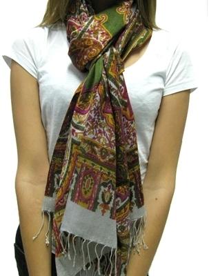 Tolani - Women's Silk Paisley Scarf