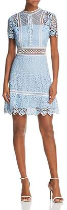 Aqua Floral Lace Dress - 100% Exclusive