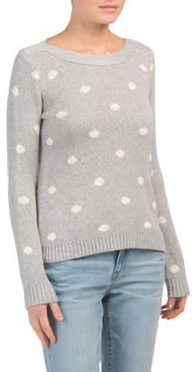 Long Sleeve Polka Dot Pullover Sweater