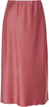 Nanushka Zarina High Waisted Satin Midi Skirt