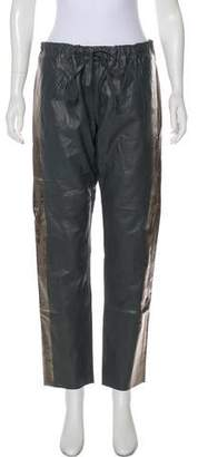 Les Chiffoniers Drawstring Leather Pants