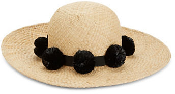 Kate Spade Kate Spade New York Pom Pom-Accented Sun Hat