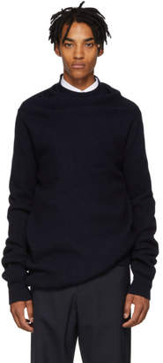 Jil Sander Blue Cashmere Turtleneck