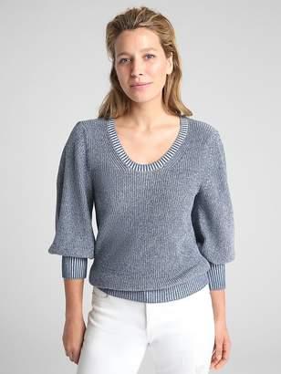 Gap Balloon Sleeve Pullover Sweater