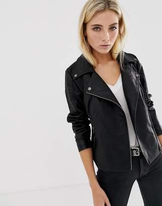 Noisy May leather look jacket