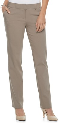 Apt. 9 Women's Torie Midrise Modern Fit Straight-Leg Dress Pants
