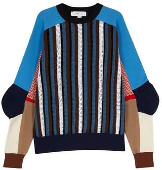 Toga Pulla Panelled Jacquard-knit Jumper