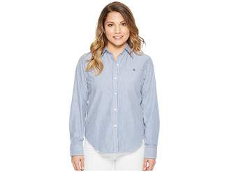 Lauren Ralph Lauren Petite Striped Cotton Shirt