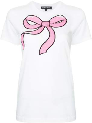 Markus Lupfer sequined bow T-shirt