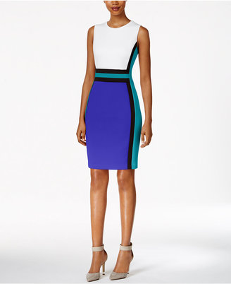 Calvin Klein Colorblocked Sheath Dress $134 thestylecure.com