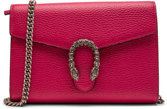 Gucci Chain Wallet Embellished Small Fuchsia