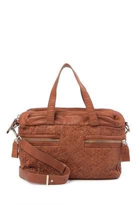 Liebeskind Berlin Arizona Distressed Woven Leather Satchel