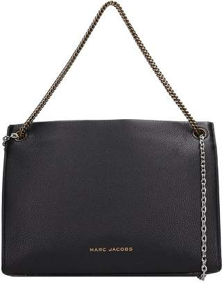 b5687fd5048b Black Leather Bag With Silver Chain - ShopStyle