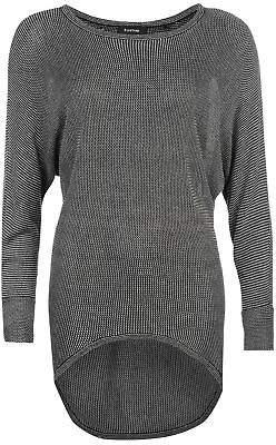 Firetrap Womens Dropped Hem Knit Jumper Sweater Pullover Long Sleeve Round Neck