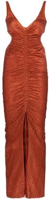 Galvan Sahara cutout-detail maxi dress