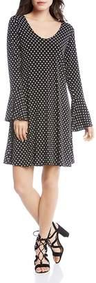 Karen Kane Bell Sleeve Polka Dot Dress
