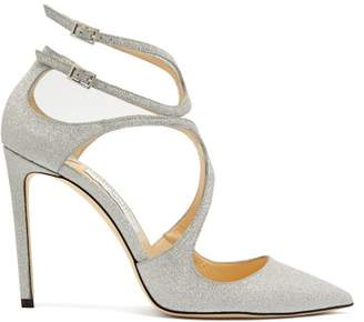 Jimmy Choo Lancer 100 Glitter Pumps - Womens - Silver