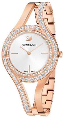 Swarovski Eternal Rosegold Stainless Steel Studded Bracelet Watch