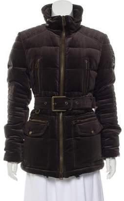 Belstaff Velvet Puffer Coat