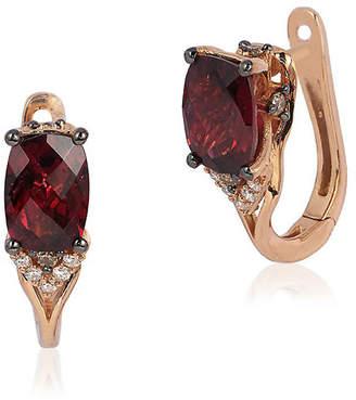 LeVian Le Vian 14K Rose Gold 1.97 Ct. Tw. Diamond & Rhodolite Earrings