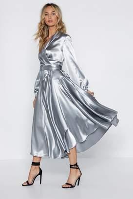 Nasty Gal Make Your Entrance Satin Dress