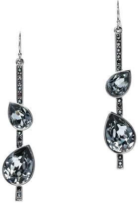 St. John Swarovski Crystal French Wire Drop Earrings