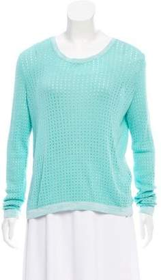 Rag & Bone Long Sleeve Open Knit Sweater Mint Long Sleeve Open Knit Sweater