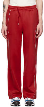 Ader Error ADER error Red Thunder Track Pants