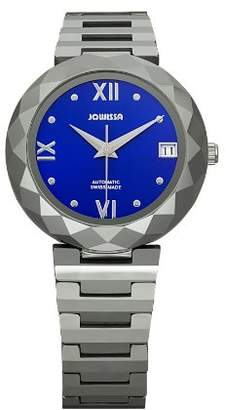 Jowissa Women's J1.168.M Soletta Automatic Sunray Dial Tungsten Date Watch