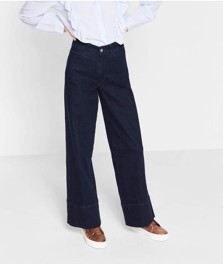 Jeans mit weit ausgestelltem Bein, Blau, Größe 26