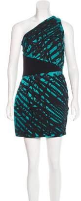 Robert Rodriguez Silk One-Shoulder Dress